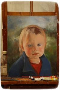 Målning på gång