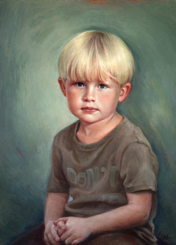 barnportratt-i-olja